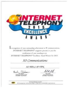2015 Internet Telephony Excellence Award XO MPLS IP-VPN