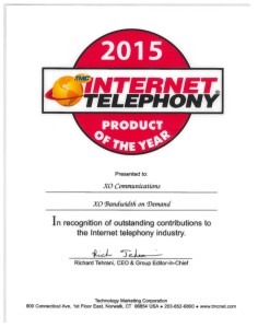 2015 Internet Telephony Product of the Year Award Bandwidth on Demand